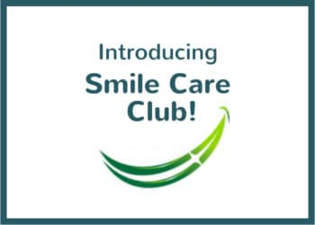 """Image reading """"introducing Smile Care Club"""" with drawing of smile below"""