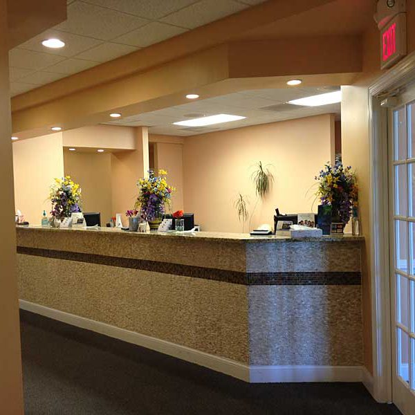 Reception desk at Winchester Dental