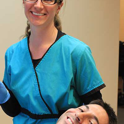 Shannon Brandstetter, RDH performs preventative screenings to keep patients in the best oral health.