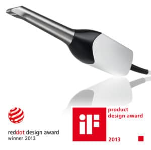 Image of CEREC Omnicam device with product award logos from 2013