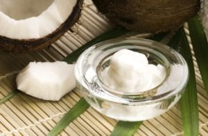 Coconut oil contains anti-microbial agents that are an important part of oil pulling.