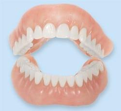 Model of dentures