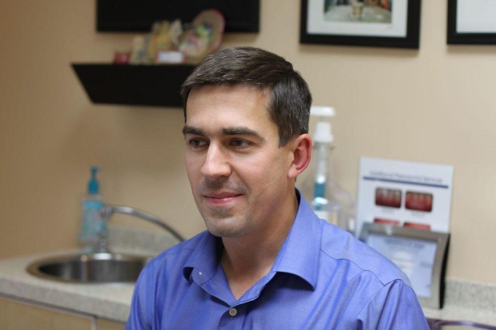 Dr. Vasyl Leskiv, DDS in Winchester Dental treatment room