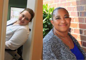 Dr. Kelly Richardson, DDS and team member Monica Boyd
