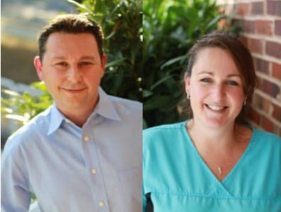 Dr. Gio Iuculano, DDS and dental assistant Julie Tavenner
