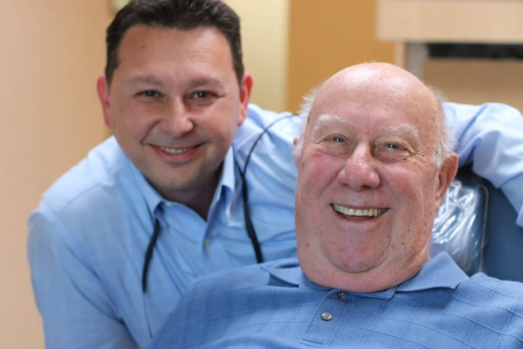 Dr. Gio Iuculano, DDS with a happy patient!