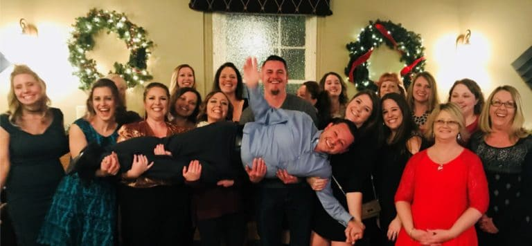 Winchester Dental team members at their 2017 Christmas party
