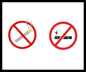 Avoiding smoking and vaping is crucial for a healthy mouth.
