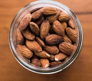 Almonds are a good source of calcium, a mineral important for strong teeth. Photo credit: Remi Yuan on Unsplash