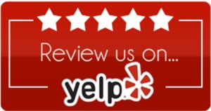 """""""Review us on Yelp"""" logo"""