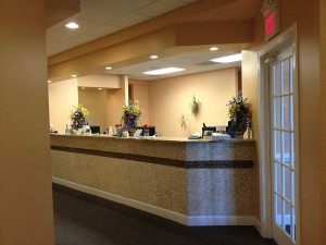 Reception desk at Winchester Dental
